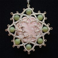 Lotus with Magnesite and Serpentine