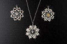 Three Silver Lotuses