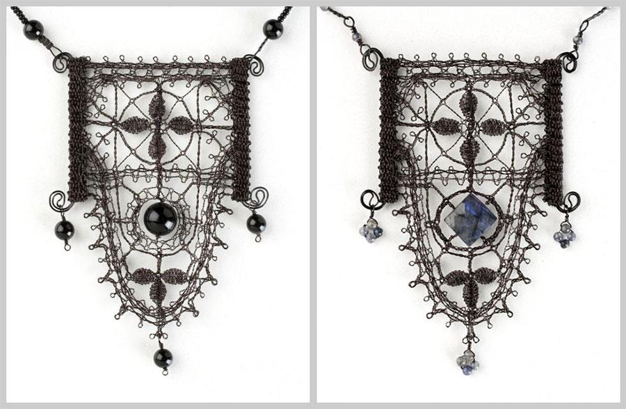 Black Genoese Scallop Pendant