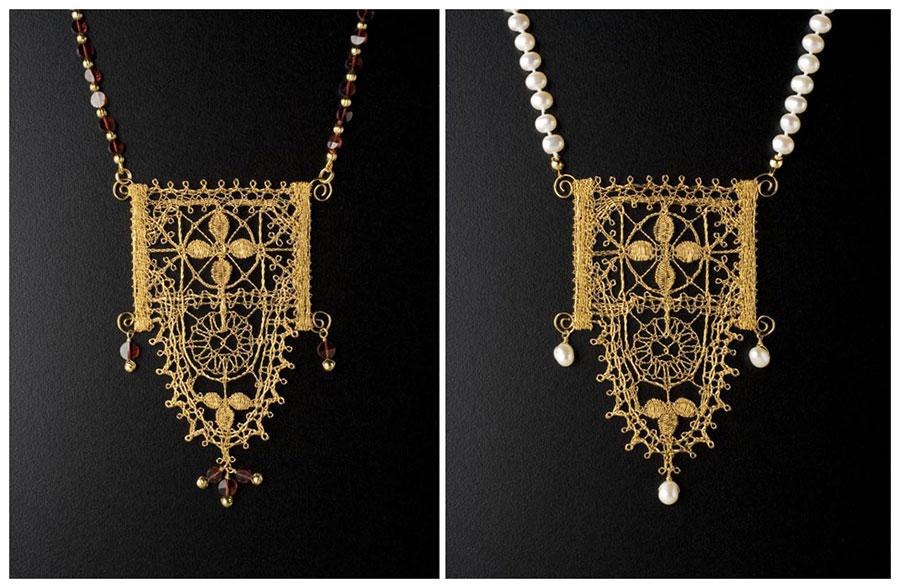 Gold Genoese Scallop Pendants
