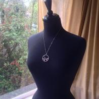 sakura pendant silver