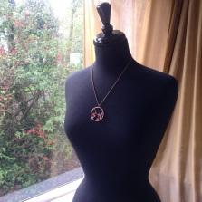 sakura pendant copper