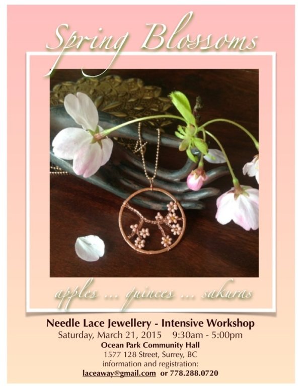 spring blossoms - needle lace jewellery