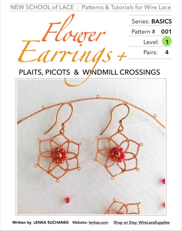 Flower Earring Pattern and Tutorial