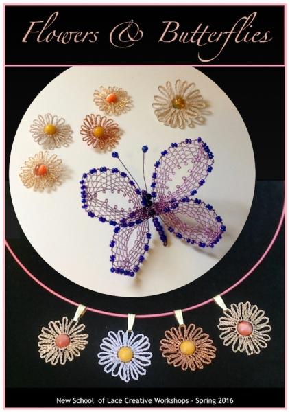 e-flowers and butterflies