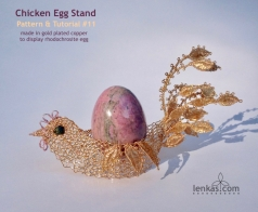 golden chicken w rhodochrosite