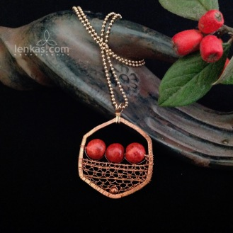 Red Berries Pendant