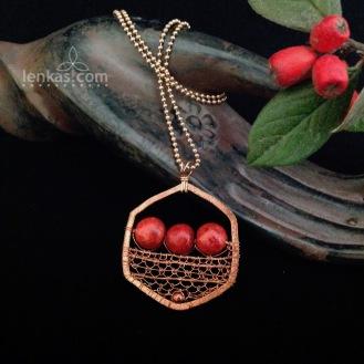 Red Berries Pendant
